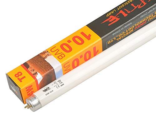 Lucky Herp 10.0 Lámpara de tubo de terrario fluorescente del desierto, bombilla UV, 14 W, T8