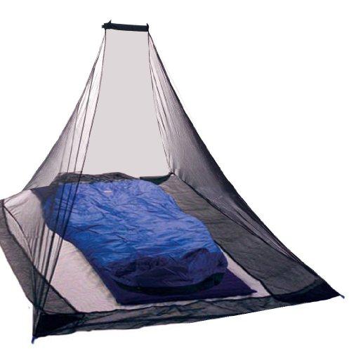 Preisvergleich Produktbild KIKAR Pyramid Single Compact Outdoor Mosquito Net - Black