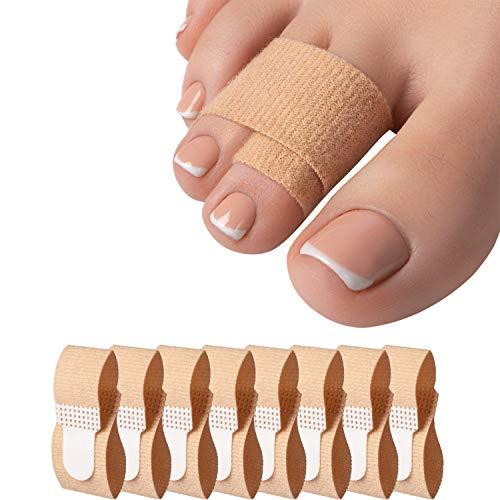 8 udsCorrector de Ferulas Juanetes, Protector Dedos del Pie Martillo para Separador Dedos Pies, Alivio del Dolor Dedos Garra,Vendas separadoras para dedos de pies rotos o martillo
