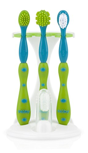 Nuby 4 Stage/Toddler Training Toothbrush Set
