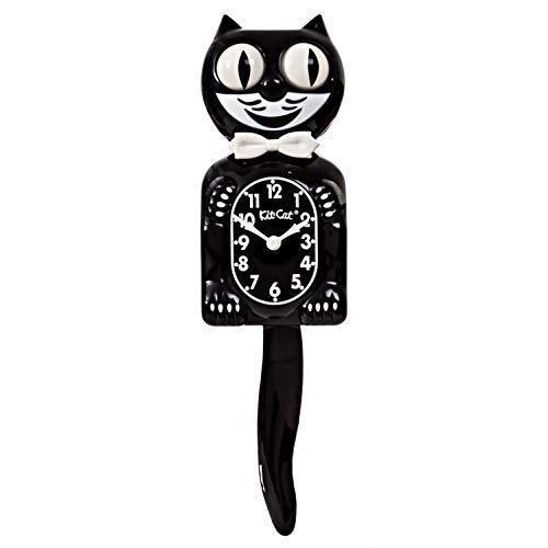 Kit-Cat-Wanduhr, schwarz