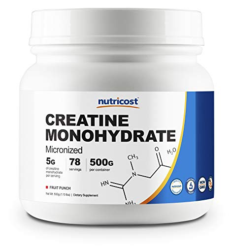 Nutricost Creatine Monohydrate 500 Grams Fruit Punch