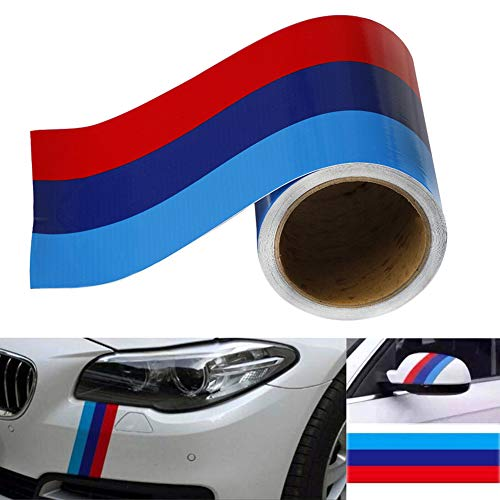 Delleu M Color Stripe Sticker Car Vinyl Decal Sticker for BMW M3 M4 M5 M6 3 5 6 7 Series PVC
