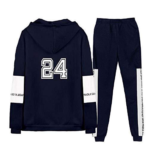 Herren Damen Kobe Bryant Drucken Trainingsanzug 2-teilig Sets Jogginghose + Sweatshirt Hoodies Hip Hop Kapuzenpullover Pulli Jogginganzug