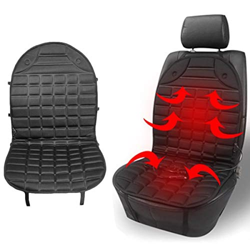 Auto Sitzheizung Heizkissen 12V Beheizte Sitzauflage Beheizte Sitzkissen mit Temperatur Kontrolleur Universal Regulierbare Vordersitz Heizauflage Autositzauflage Hot Stuff Sitzkissen (1 PCS)