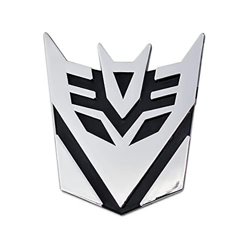 Transforming Auto Robot Decepticon Auto Emblem - [Chrome][3 1/2'' Tall]