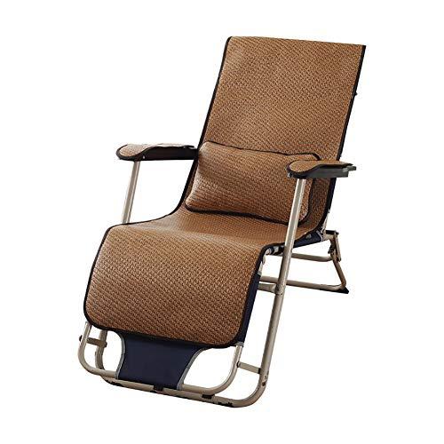 SKRCOOL Rotan Chaise Loungerkussen, terrasligstoel, bureaustoel, zomer ademend, schommelstoel, kussen (zonder stoel)