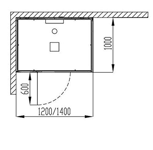 Hoesch baño senseperience Vapor 140 x 100 cm ducha de vapor con ...