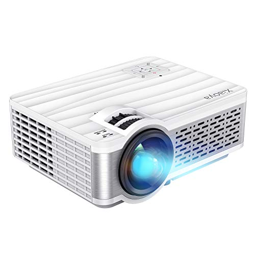 XIAOYA Outdoor Projector, HD Movie Projector Support 1080P, 4000 Lumens Home Theater Projector with HiFi Speaker, Compatible with HDMI, Fire Stick, USB (White)