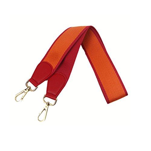 Umily Damen 103cm Schultergurt breiter Schultergurt/Schulterriemen handtaschen/Schulterriemen bunt für Schulterriemen Tasche, Tragetaschen und Handtaschen(Orange)