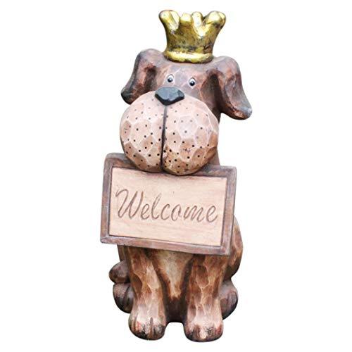 ZWSHOP Outdoor Statues Cute Puppy Animal Statue, Garden Landscape Garden Decoration. 18.9 inches high