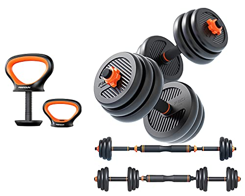 Gnpolo 4-1 Adjustable Dumbbells Free Weights Set Total Weight 66Lbs/30Kg