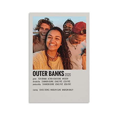 HAPPOW Affiche vintage de film « Outer Banks » - Affiche esthétique des années 90 - Peinture décorative sur toile - Décoration murale - Pour salon, chambre à coucher - 20 x 30 cm