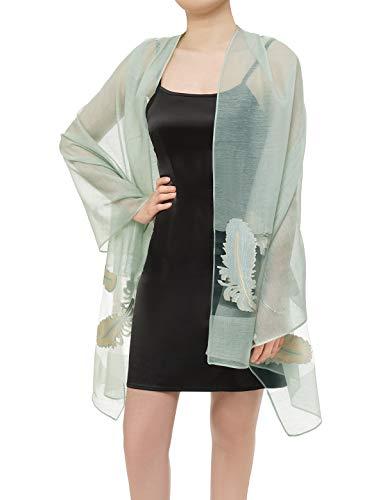Bbonlinedress Chiffon schals Stola Schal Tuch Stolen im Sommer für Kleider Abendkleid hochzeit Mint-1
