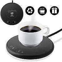Calentador de café, Calentador de bebidas portátil, Calentador de tazas inteligente, con dos controles de temperatura para uso en la oficina o el hogar con placa eléctrica para bebidas
