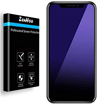for iPhone 11 Pro Max iPhone Xs Max Anti Blue Light [Eye Protection] Tempered Glass Screen Protector ZenHoo