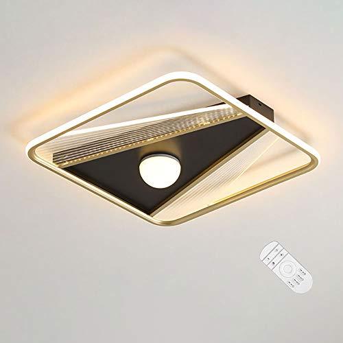 Luckly LED Empotrados Lámpara de Techo Metal Ultradelgada Redondo Plafon de Techo Moderna Protección Los Ojos Luz Interior Brillo Ajustable para Dormitorio Salón Comedor Balcón D42×H6CM,B