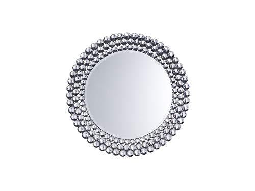 Beliani Wandspiegel im Glamour Stil rund Dia. 70 cm Silber Stenay