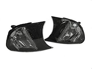REVi MotorWerks Crystal Smoke Clip ON Corner Signal Lights by DEPO Fit 2000-2001 BMW E46 2D Coupe/Convertible M3