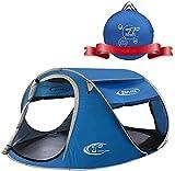 Zomake Pop Up Tent 3 4 Persona, Playa Tent Sun Shelter para Bebé con protección UV: Carpa automática e instantánea para la Familia