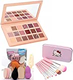 INENCE_Nude Eye Shadow Palette 18 Shade in 1 Kit combo (3 Items in the set)