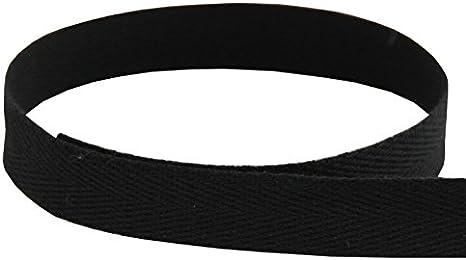 striped ribbon 50 yard roll 38 Cotton twill tape Cream and Black stripe twill ribbon 9mm cotton black and white ribbon