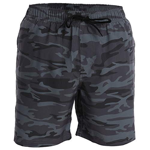 Men's Swim Trunks and Workout Shorts - XL - Dark Camo - Perfect Swimsuit or Athletic Shorts for The Beach, Lifting, Running, Surfing, Gym. Boardshorts, Swimwear/Swim Suit for Adults, Boys