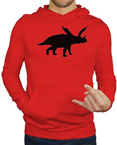 tostadora - Hoodie Pentaceratops - Manner Rot M