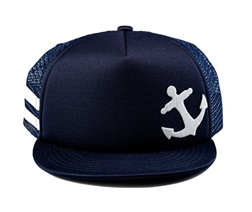 Born to Love Baby Boy Infant Trucker Sun Hat Toddler Baseball Cap Navy Anchor Hat S 48 cm 12 to 24 Months