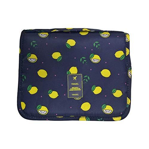 Reise Lagerung, Wasserdicht und aufhängbaren, Netzfach, ideal für Reisen | wäscht Beutel, kosmetische Beutel, (Multi-Color optional) Schwarze Zitrone