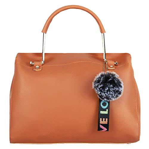 Don Cavalli Beige Women's PU Leather Handbag (DC_HB_20-Beige)