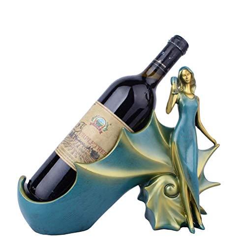 WANNA.ME Botellero de apoyo para botellas de vino y trastero, perfecto para bar, bodega, armario y despensa en botellas clásicas, decorativas, modernas y robustas.
