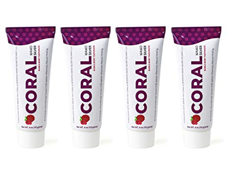 Coral White Nano Silver Bubble Berry Kids Fluoride Free Toothpaste, Natural Fluoride Free Teeth Whitening Toothpaste, Coral Calcium Nano Silver Infused SLS Glycerin Free 4 Ounce (4 Pack)