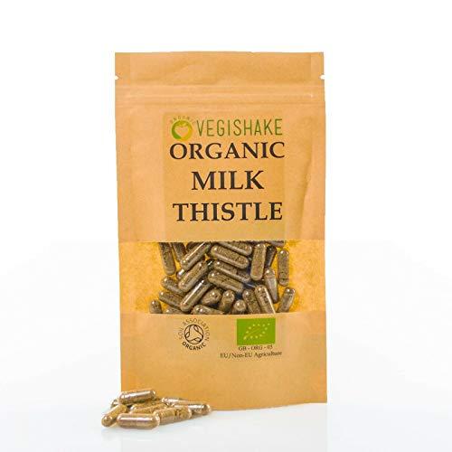 Organic Liver Detox HPMC Capsule 800mg Herbal Supplement Liver Protection Silymarin Health Vegan Halal Kosher (90 Capsules)