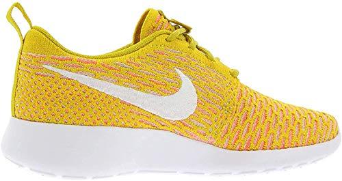 Nike Wmns Roshe Run Flyknit, Grã¶ÃŸe:40;Farbe:Gelb