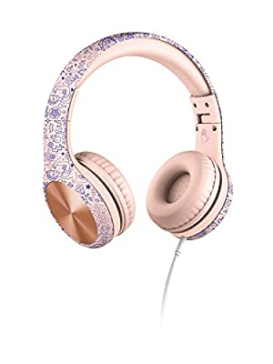 New! LilGadgets Connect+ PRO Kids Premium Volume Limited Wired Headphones with SharePort (Children) - Girl Power from LilGadgets