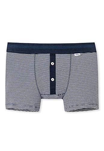 Schiesser Revival - Shorts Navy Geringelt - Revival Karl-Heinz (XL)