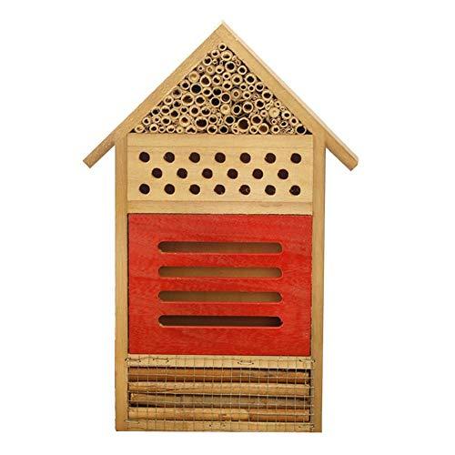 Insektenhotel Insektenhaus Nistkasten Brutkasten Insekten Bienen Hotel Schmetterlinge Gartendeko Naturbelassenes Insekten Hotel Massivholz Material Schön Gestaltet Für Verschiedene Fluginsekten-B