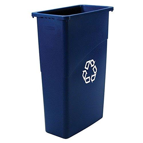 Rubbermaid Slim Jim Waste Container, 87 L - Blue
