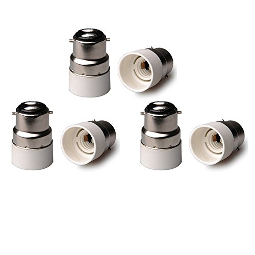 Lot de 6 adaptateurs de douille B22 vers E14 Culot B22 vers E14 ES