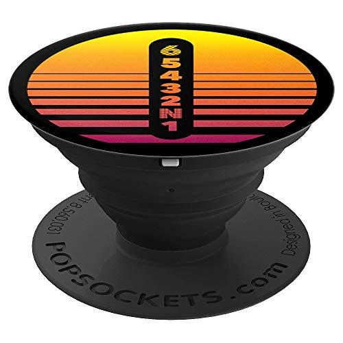 Motorrad-Getriebe Vaporwave Sunset Silhouette Rosa und Gelb - PopSockets Ausziehbarer Sockel und Griff für Smartphones und Tablets