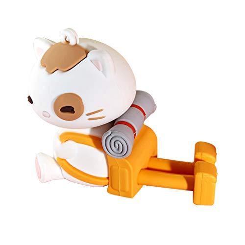 SweetWU - Soporte para teléfono inteligente con diseño de gato de la suerte de dibujos animados para teléfono móvil