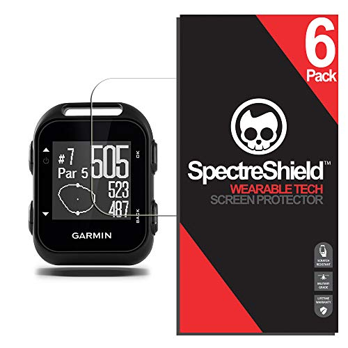 Spectre Shield (6 Pack) Screen Protector for Garmin Approach G10 Accessory Garmin Approach G10 Case Friendly Full Coverage Clear Film