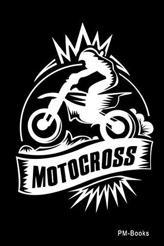 Price comparison product image Motocross: Kariertes A5 Notizbuch oder Heft für Schüler,  Studenten und Erwachsene