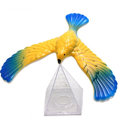 AMOUSTORE Balancing Bird Gravity Bird, Pyramid Balance Eagle Great for Understanding Gravity Suitable for Kids Desktop Toy Decoration (Random)