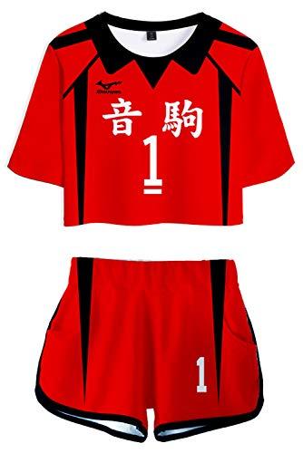 CosplayCos Nekoma High Kenma X Kuroo Cosplay Costume Volleyball Uniform Shorts Set