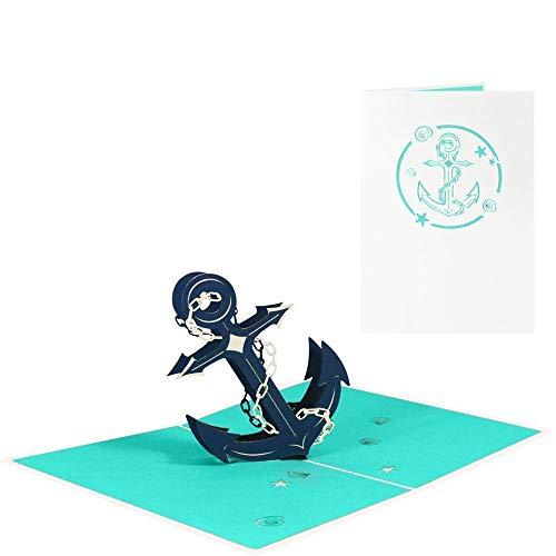 Anker Pop Up Karte Ahoi Glückwunschkarte Geburtstag Grußkarte Urlaub Maritim Strand Meer See Reise Gutschein - Anker 091
