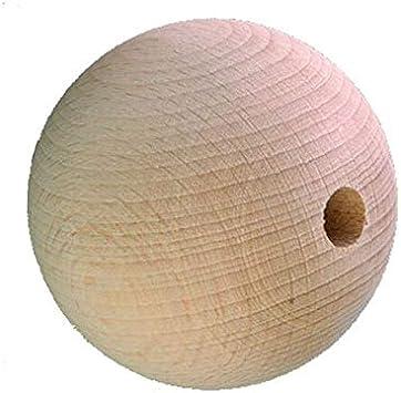 Holzkugel vollrund /Ø 12 mm mit durchgehender Bohrung 3 mm Buche 31 St/ück