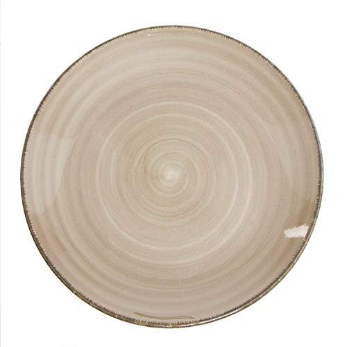 Vidal Regalos Plato Llano Ceramica 27 cm Beige