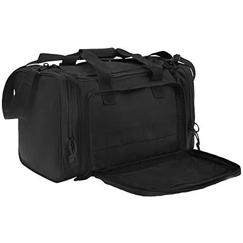 Range Bag Tactical Bag Gun Bag for Handguns Pistol Durable Water Resistant Tactical Duffle Bag with...